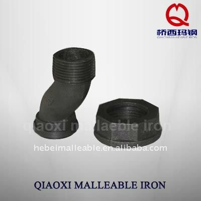 Black Malleable Iron Pipe Fitting Gas Fitting Meter Swivel Offset