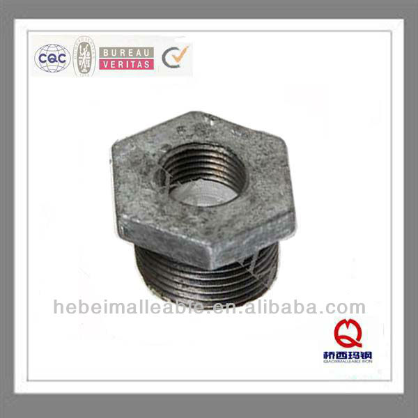 "1/2""bake galvanized malleable iron pipe fittings reducing bushing"