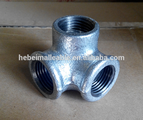 black / galvanized malleable cast iron pipe fittings ,elbow ,union , tee, cross,
