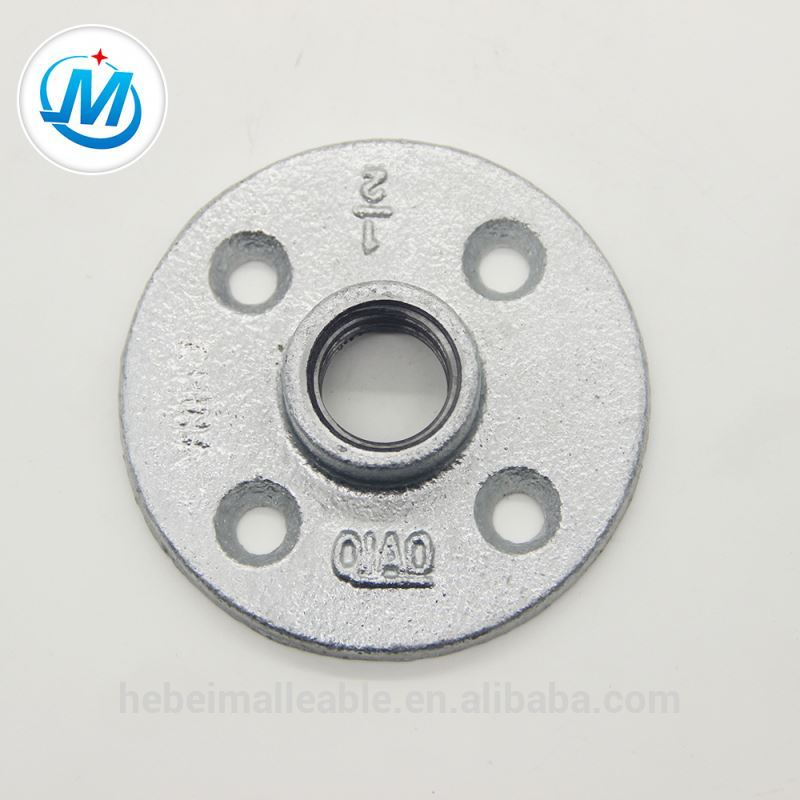 galvanized asme malleable iron flange