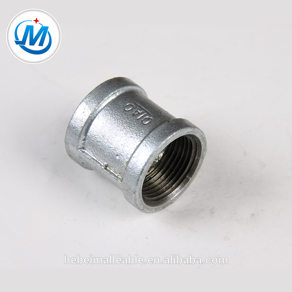 Malleable GI Iron Pipe Fitting Socket Banded With Ribs Right Head Thread