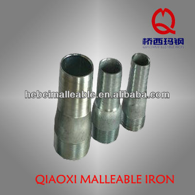 Big discounting Black Pipe Malleable Gas Steel Nipples Fitting -