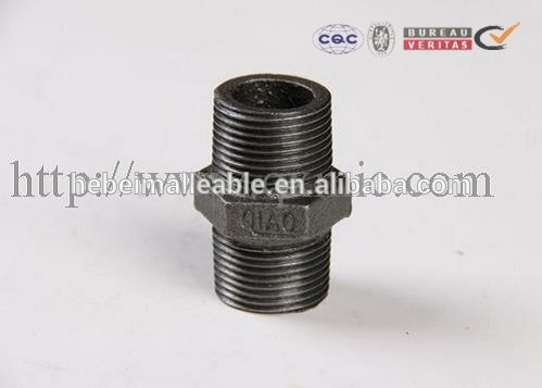 2017 Latest Design Floor Flange Pipe Fitting - QIAO brand BS standard new product pipe fitting Hexagon Nippe – Jinmai Casting detail pictures