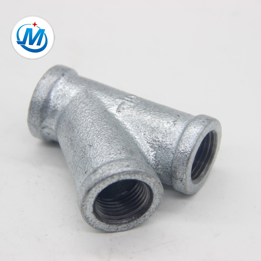 Factory Cheap Cast Iron Pipe Bend - y type tee and y branch 45degree galvanized pipe fitting – Jinmai Casting