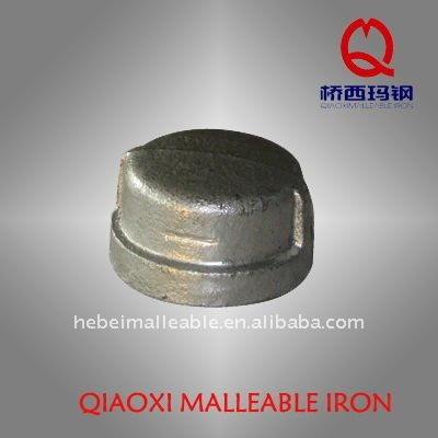 GI pipe fitting casting malleable iron ball end cap