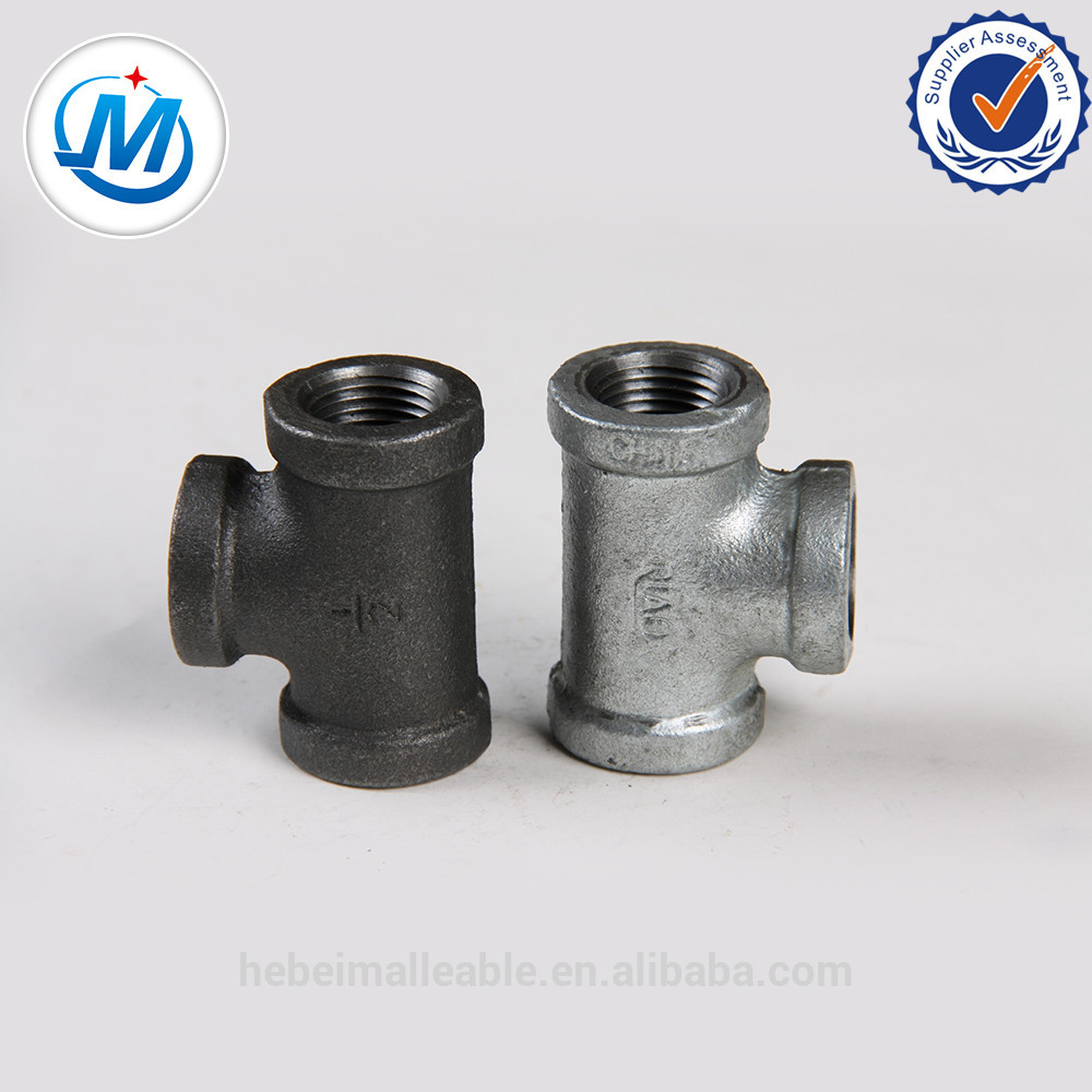 """New Fashion Design for Ss304 Stainless Steel Elbow - 3/4""""ANS thread cross banded equal 90 degree malleable iron fitting – Jinmai Casting detail pictures"""
