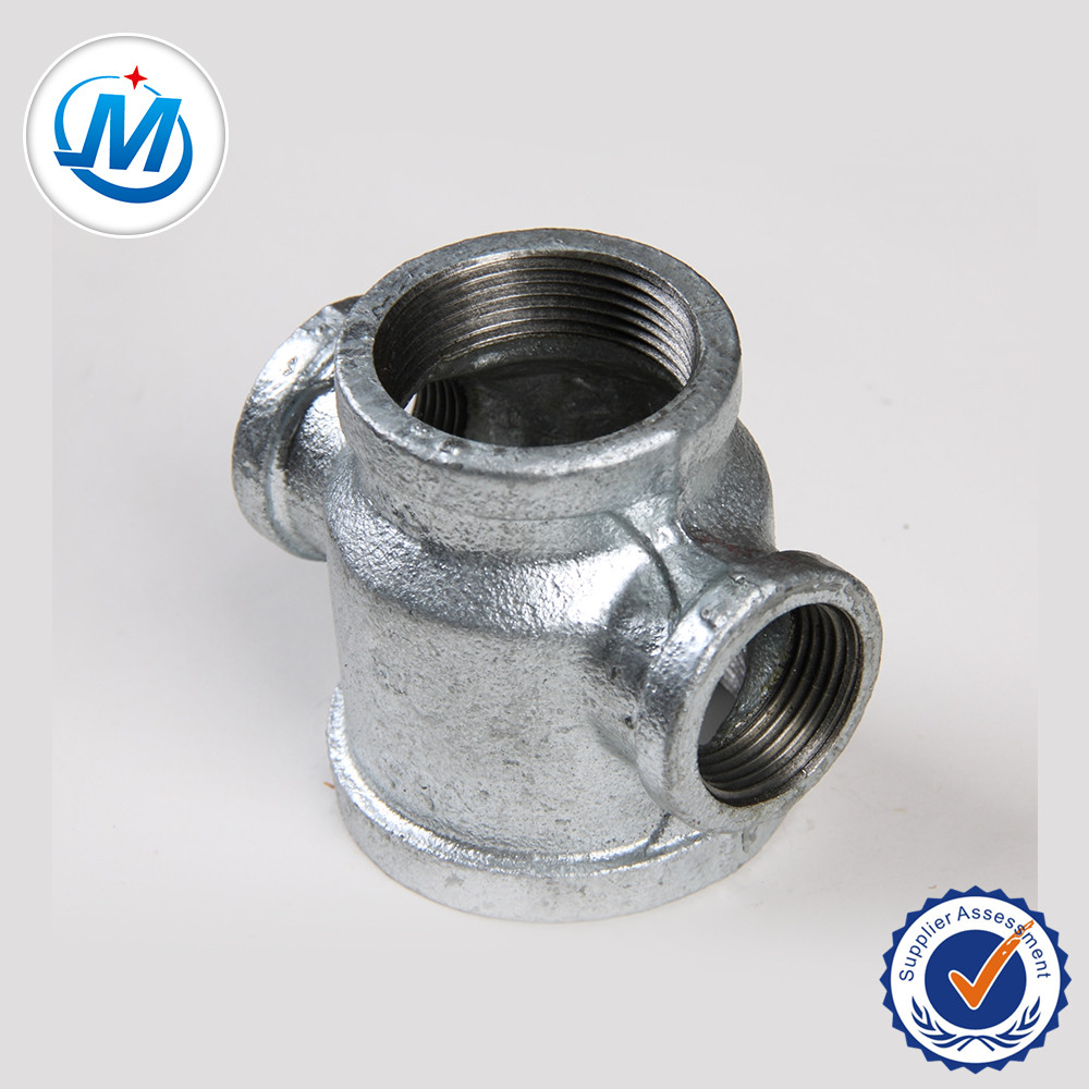 cast iron pipe fitting galvanized cross reducing