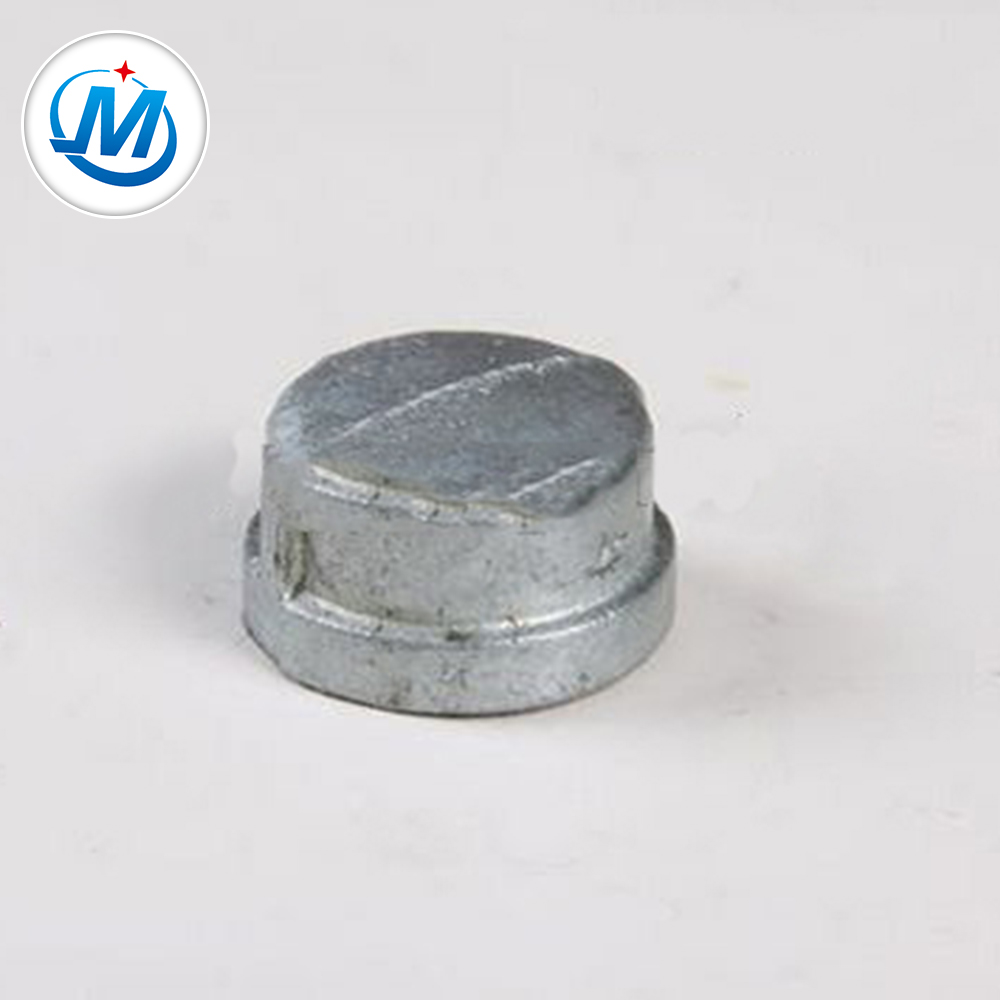 "wholesale malleable cast iron pipe fitting QIOA pipe fitting cap 1/8""-6"" low price"
