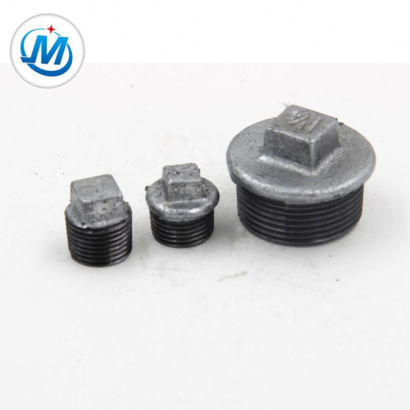 Europe style for Brass Reduced Ff Thread Screw Fitting - Ensuring Quality First 2.4mpa Test Pressure Malleable Cast Iron Pipe Fittings Beaded Plug – Jinmai Casting detail pictures