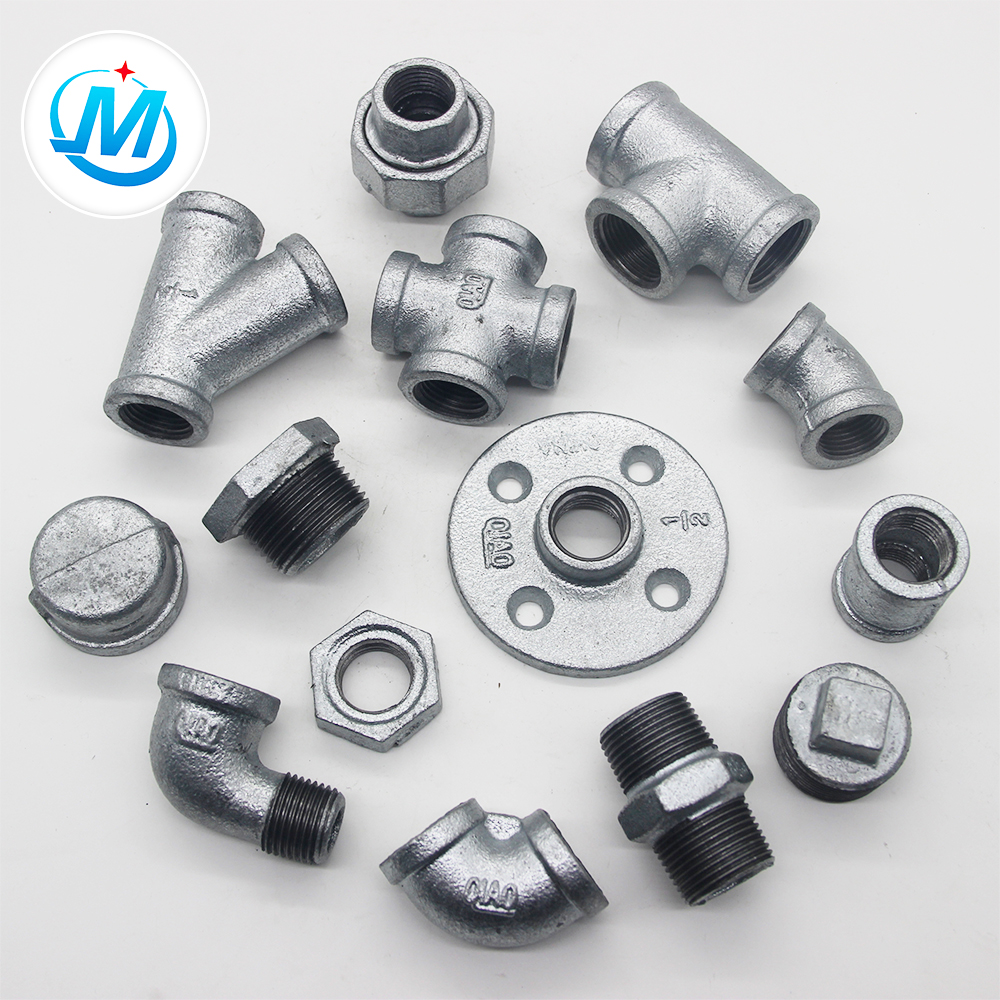 Bargain price stock goods hot dipped galvanized malleable iron pipe fittings